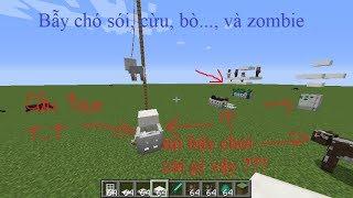 Hướng dẫn cách làm bẩy chó sói, cừu,bò,... và zombie đơn giản