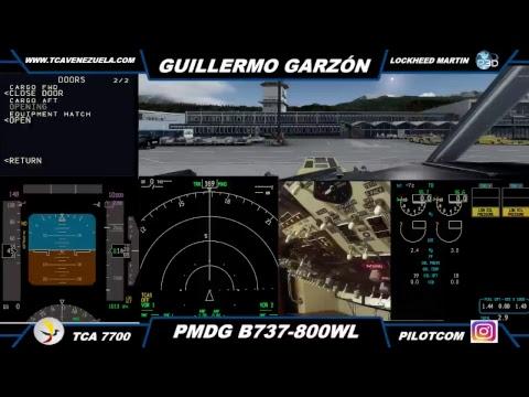 Flight from MONACO (LFMN) to INNSBRUCK (LOWI) P3D B738 PMDG