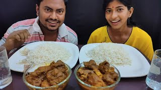 Mutton Curry Basmati Rice Eating Challenge