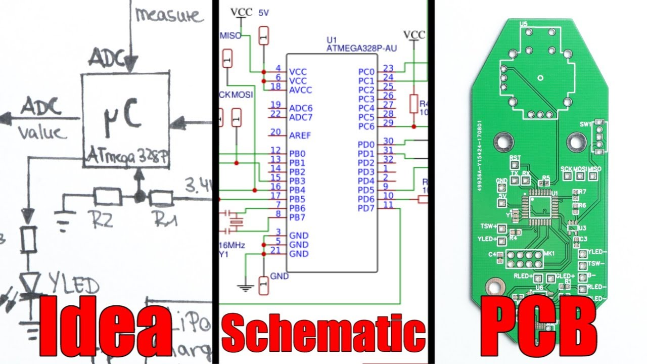 from idea to schematic to pcb how to do it easily  [ 1280 x 720 Pixel ]