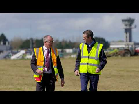 Silage being cut at Shannon Airport