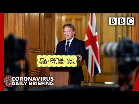 Cover faces on England transport or 'face fines' - Coronavirus (Covid-19) Government Briefing 🔴 BBC