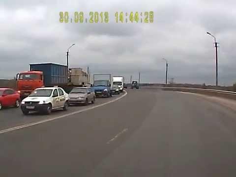 жёсткая авария на мосту из орехово в ликино-дулёво