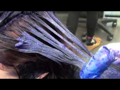 haircolor purple blue ombre demi permanent color youtube