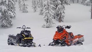 2018 Mountain Sled Shootout: Ski-Doo VS Polaris