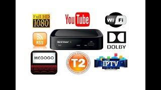 Дочекалися! World Vision T62M Тюнер (приймач) Т2 відеоогляд, налаштування WIFI, каналів IPTV