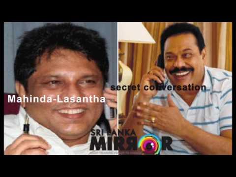 Lasantha Wickrematunge Mahinda Rajapaksa secret conversation leaked