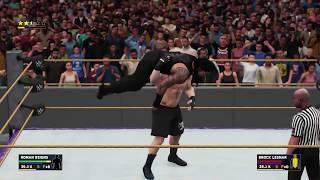 WWE 2K18 WrestleMania 34 Roman Reigns vs Brock Lesnar