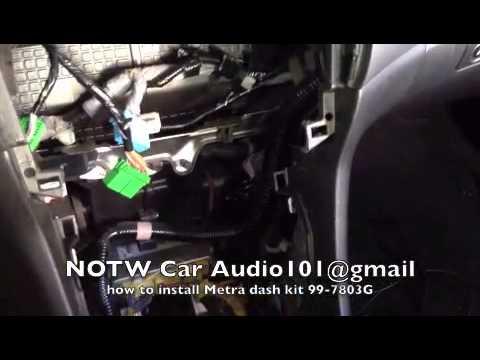 How To Install Metra Dash Kit 99-7803G 2003-2007 Honda Accord