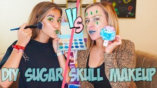 Glam Glitter Sugar Skull Halloween Challenge using Cheeki Puffs!!