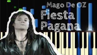 Mägo de Oz | FIESTA PAGANA - Piano Tutorial FÁCIL [Synthesia]