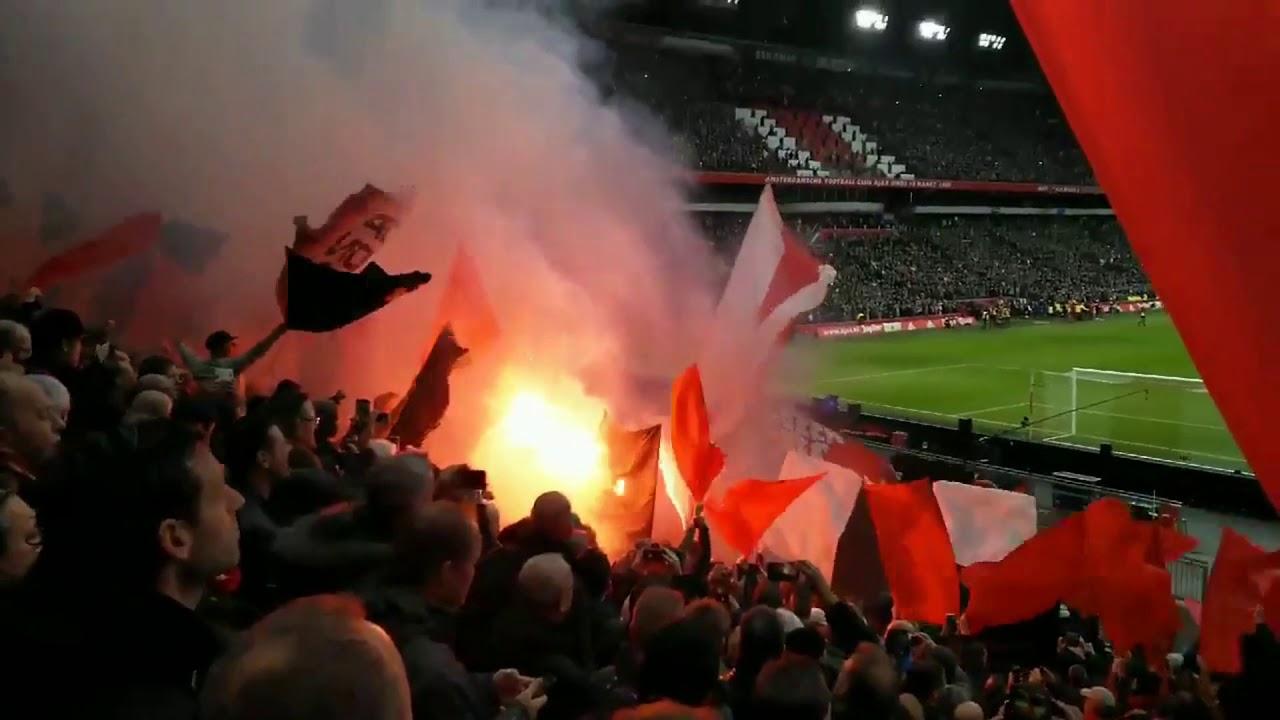 Ajax v. Feyenoord 2:0 fans highlights 2018 - YouTube