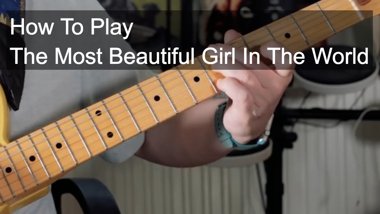 The Most Beautiful Girl In The World Prince Guitar Lesson Youtube