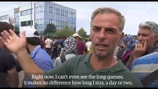 اللاجئين عند الحدود النمساوية الهنغارية19-9-2015