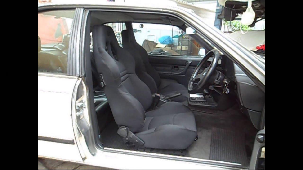 BMW 635CSi.....SAAS Kombat Bucket Seat Install. - YouTube