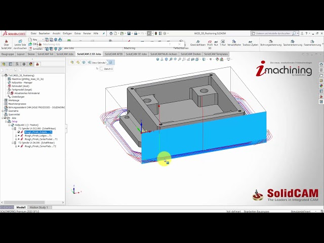 SolidCAM 2020 – 3D Positionierung in iMachining 2D