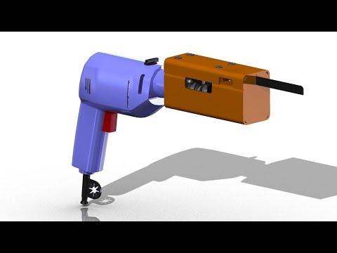 Насадка на шуруповерт или электролобзик своими руками  Чертежи и 3D Модели. Homemade Jigsaw