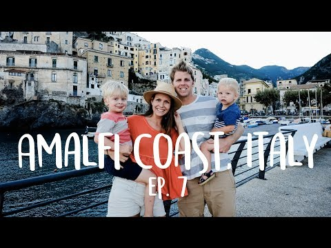 Amalfi Coast with Kids! Jelly fish scare, boat ride to Positano, swimming and lots of stairs!