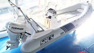 Sacs S 590 con Evinrude 115 Etec Usato prova in mare