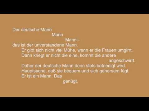 Ursula Herking - Der deutsche Mann ( Tucholsky  1931 )