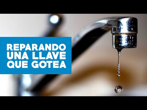 C mo reparar una llave que gotea youtube for Llave de ducha pared