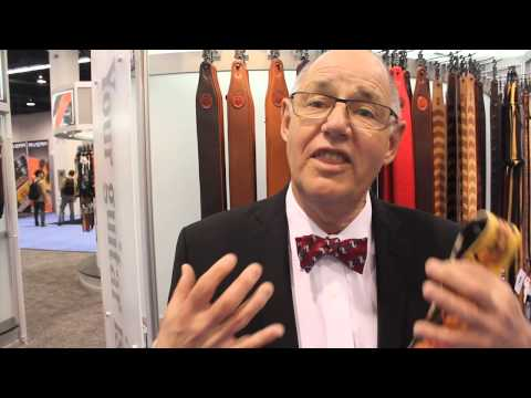 Levy's Leathers Art Deco Guitar Straps at NAMM 2014