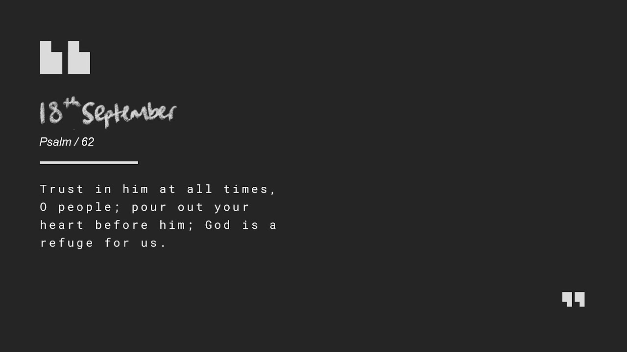 Daily Devotion with Matt Carvel // Psalm 62 Cover Image