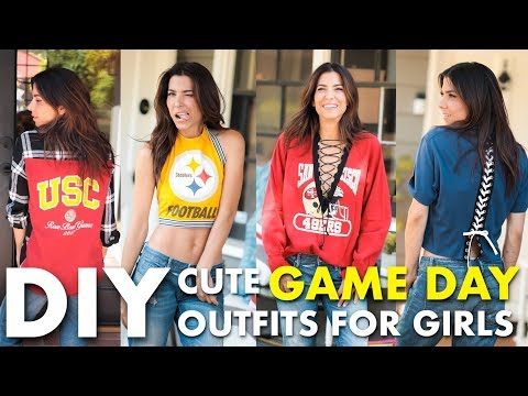 DIY- Cute GAME DAY Outfits For Girls (NO-SEW!) - By Orly Shani