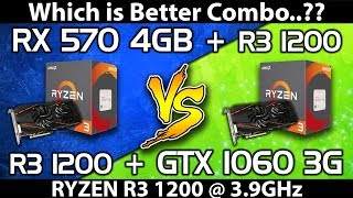 RX 570 (4GB) vs GTX 1060 (3GB) || Ryzen R3 1200 @ 3.9GHz || Comparison
