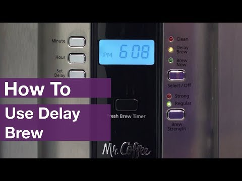 How to Use Delay Brew on Mr. Coffee® Coffee Makers
