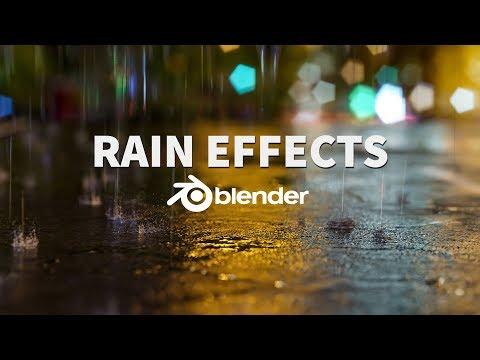 Animated Rain And Splash Effects | Blender 2.8 Tutorial