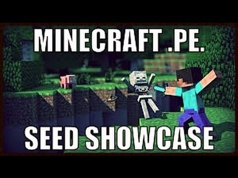 Minecraft PE, AMAZING SEEDS #5 GIANT CAVE!!!