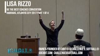 PART 1/4-Coach Lisa Rizzo On CUDIT® Concentric Hitting Softball Tips and Drills