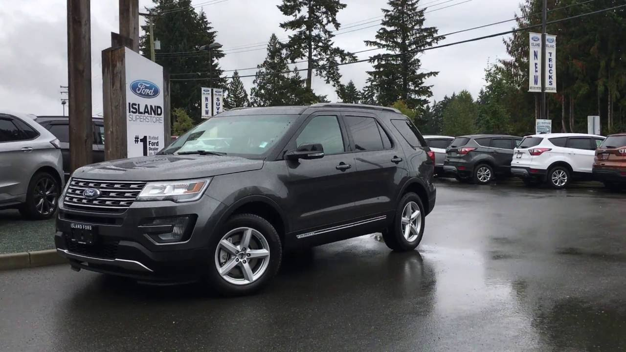 2017 Ford Explorer XLT AWD W/ Power Lift Gate & Nav Review | Island Ford - YouTube