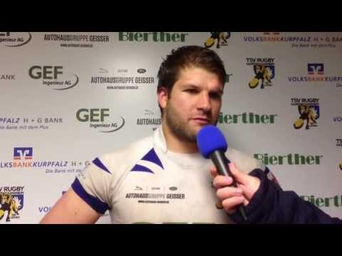 Post-Game Interview nach dem 107:0 Viertelfinalsieg der Löwen mit dem TSV-Hakler Sven Wetzel.
