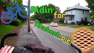 Dodgin' Loogies For Rhubarb Pie! (exo Bike Vlog)