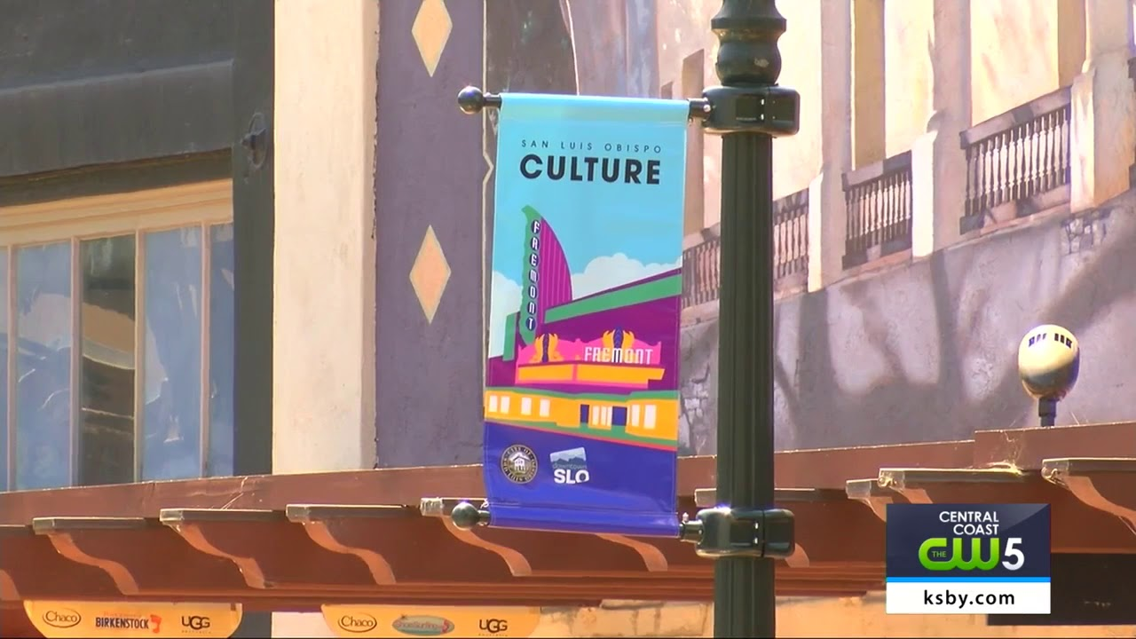New Light Pole Banners installed in San Luis Obispo
