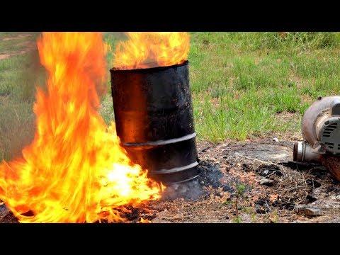Turbo Powered Stump Incinerator