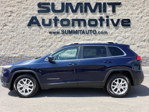 Blue 2016 Jeep Cherokee Latitude
