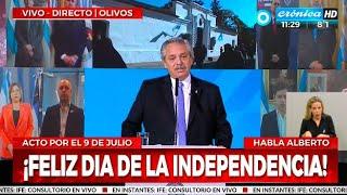 Alberto Fernández encabezó el acto por el Día de la Independencia