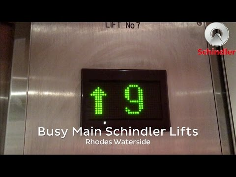 (RETAKE 2) Schindler Traction Lifts @ Rhodes Waterside Shopping Centre
