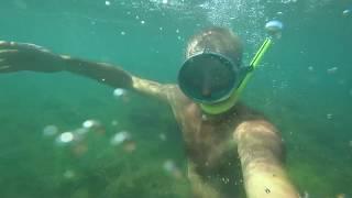Камера SONY FDR-X3000 под водой (Феодосия)