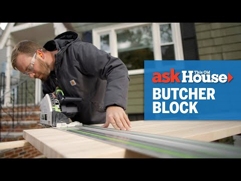 How to Install a Butcher Block Countertop | Ask This Old House