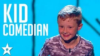 SAVAGE KID COMEDIAN Picks On The Britain's Got Talent Judges!! Got Talent Global