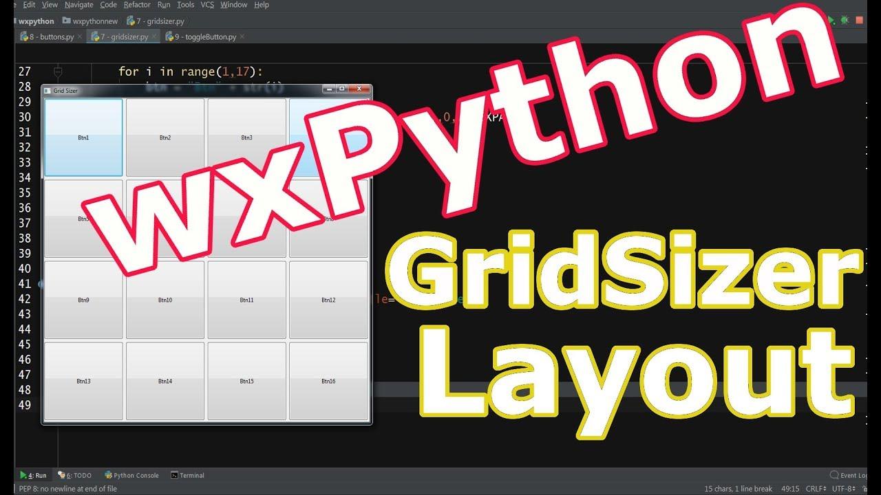 wxPython GUI Programming Grid Sizer Layout #5