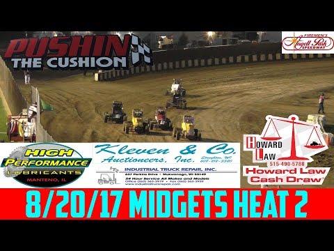 Angell Park Speedway - 8/20/17 - Midgets - Heat 2