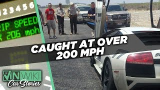 What happens when you get caught going over 200 mph?