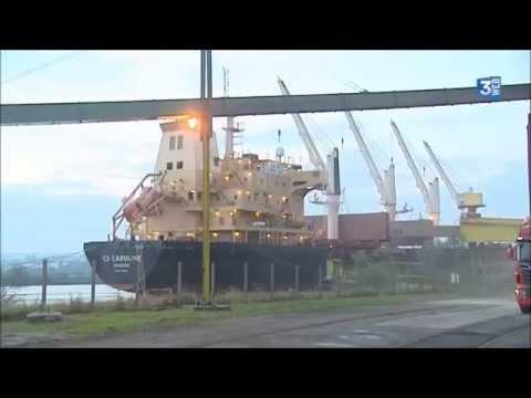 La vie sur le Port de Rouen - Reportage de FR3