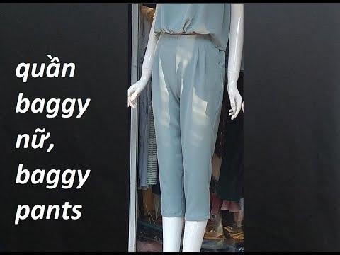 Hướng dẫn cắt quần baggy nữ  Part 1 Thân  trước. How to cut baggy pants.