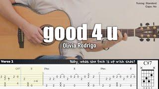good 4 u - Olivia Rodrigo | Fingerstyle Guitar | TAB + Chords + Lyrics